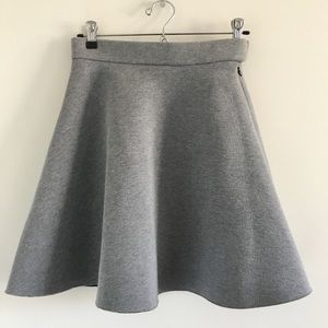 COS Heathered Gray Scuba Mini Skirt Size XS